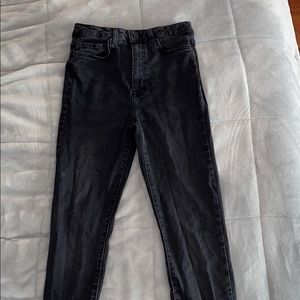 Forever 21 Black High Waisted Skinny Jeans Size 26